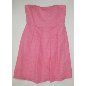 J. Crew Lorelei Dress Deco Dot pink 14